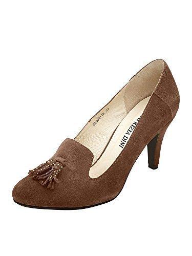 Zapatos de tacón de Piel de napa de Patrizia Dini Coñac