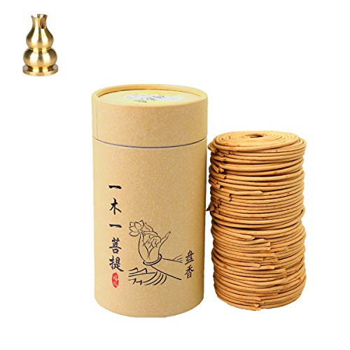 Ceramics Incense Burners Towers Incense Burner Holder Home Decor Indoor Incense Coils Fragrans, Rose, Jasmine, Sandalwood, Lavender - Each 256g 96pcs 3.5Hr with Copper Incense Clip (fragrans coils)