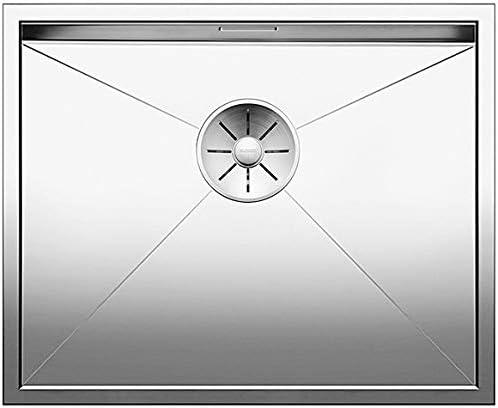 BLANCO 521589/Zerox /Évier de cuisine 500-U /Évier encastr/é en acier inoxydable pour unterbauen pour la cuisine inox brillante