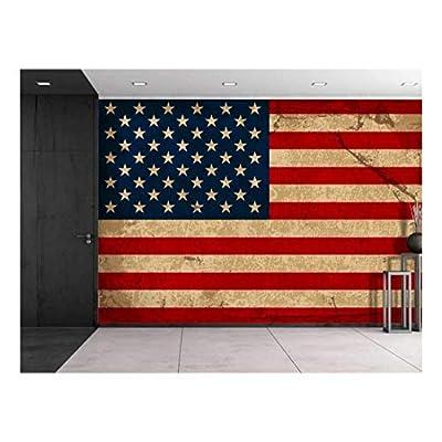 Large Wall Mural Vintage American Flag Vinyl Wallpaper...