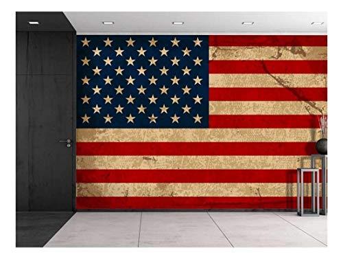 wall26 - Large Wall Mural - Vintage American Flag | Self-Adhesive Vinyl Wallpaper/Removable Modern Decorating Wall Art - 66