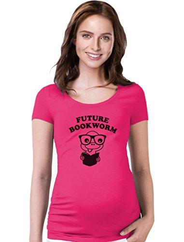 TeeStars - Future Bookworm - Cute Geeky Mom to Be Pregnancy...