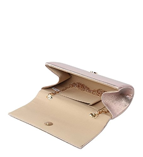 Party Envelope Handbag Evening Silver Clutch ME68035 Purse Diamante Bag Women's Glitter Ladies qw0pU5