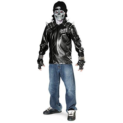 Rubies Costume Dead City Choppers Child's Metal Skull Biker Rider Costume, Medium ()