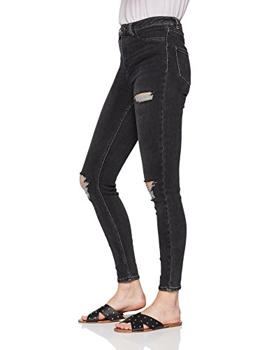 Genie Donna Look Skinny Nero Disco New Ripped Jeans vt4YY1x
