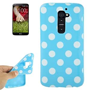 Blue and White Dot Pattern TPU Case for LG Optimus G2 / D801