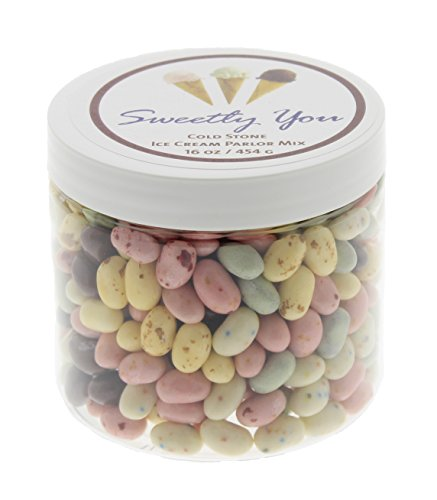 Jelly Belly 1 LB Cold Stone Ice Cream Parlor Mix Flavored Beans. (One Pound, 1 Pound) Bulk Jelly Beans in a resealable and reusable jar.