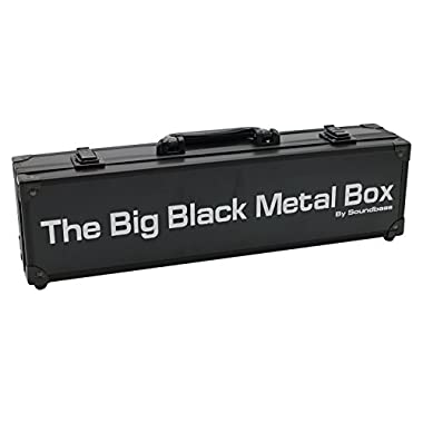 The Big Black Metal Box by Soundbass® for Cards Against Humanity Card Game. Fits the Main Game + All 6 Expansions. Includes 8 Dividers. Fits up to 1500 Cards. Card Game Sold Separately. Travel Case.