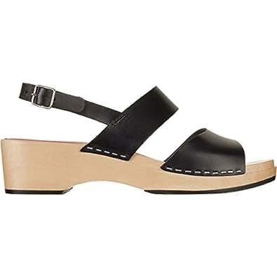 swedish hasbeens Women's Helena Heeled Sandal, Black, 36 EU/6 M US