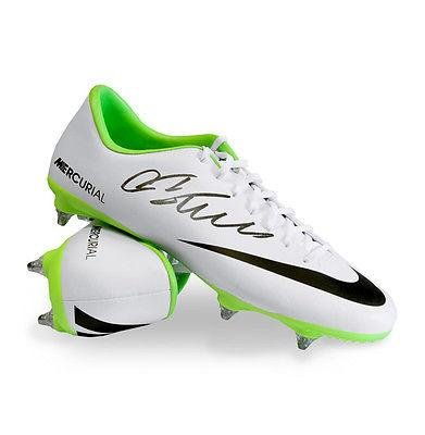 192d045dc Cristiano Ronaldo Signed Football Boot - Nike Mercurial - Autographed  Soccer Cleats at Amazon s Sports Collectibles Store