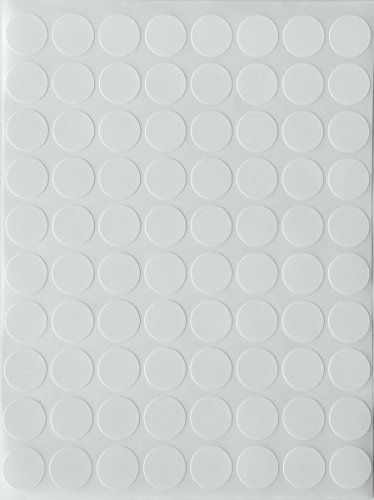 "Color Coding Labels 1/2"" Round - Dot Stickers -- Half inch rounds WHITE sticker -- 1200 pack"