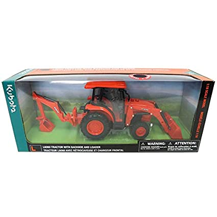 1//18th Kubota L6060 with Loader and Backhoe by New Ray