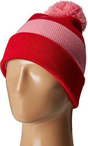 Kate Spade New York Womens Color Block Beanie Fleur De Lis/Charm Red One Size One Size