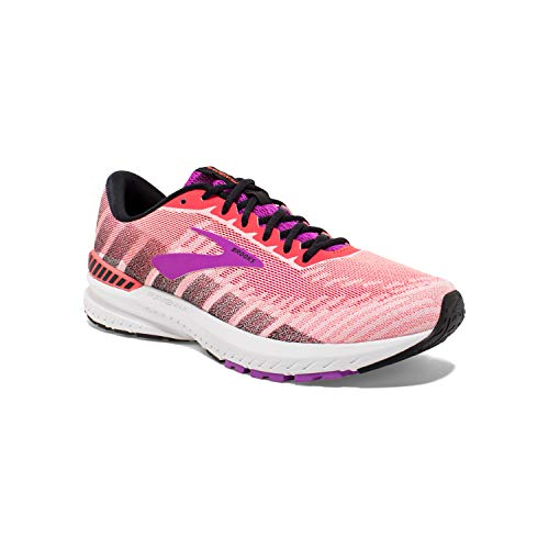 Brooks Womens Ravenna 10 Running Shoe - Coral/Purple/Black -...