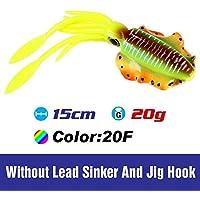 Generic FSTK 20g15cm Fishing Soft Lure UV Luminous Squid jigs Lure Fishing Lures Octopus Lure Pesca Calamar Sea Fishing Wobbler Bait: SQM20F