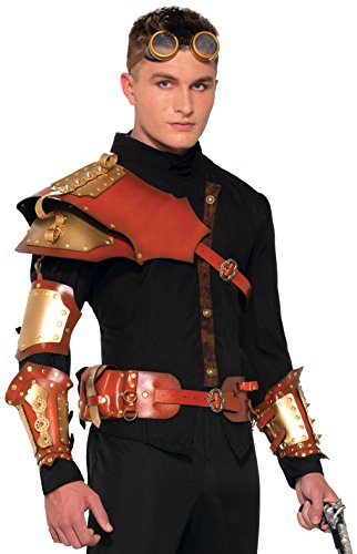 [Forum Novelties Men's Steampunk Armor Belt, Brown, One Size] (Steampunk Costumes Men)