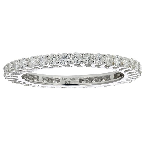 1 CT Diamond Eternity Ring in 14K White Gold Size 7