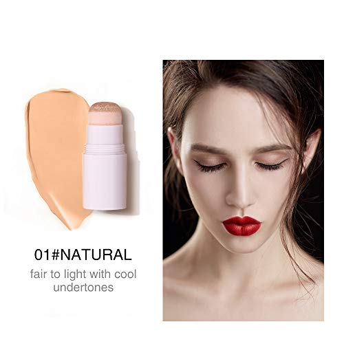 Air Cushion Concealer Stick Full Cover Contour Facial makeup Lasting Foundation Base Hide Blemish Pores tan Cosmetic A01 Natural