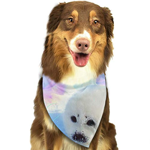 (Pet Scarf Dog Bandana Bibs Triangle Head Scarfs Glacier Seals Accessories for Cats Baby Puppy)