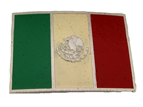 Skull Buckles Accessories Belt (Mexico Country Flag Logo Belt Buckle Mexican Amigo)