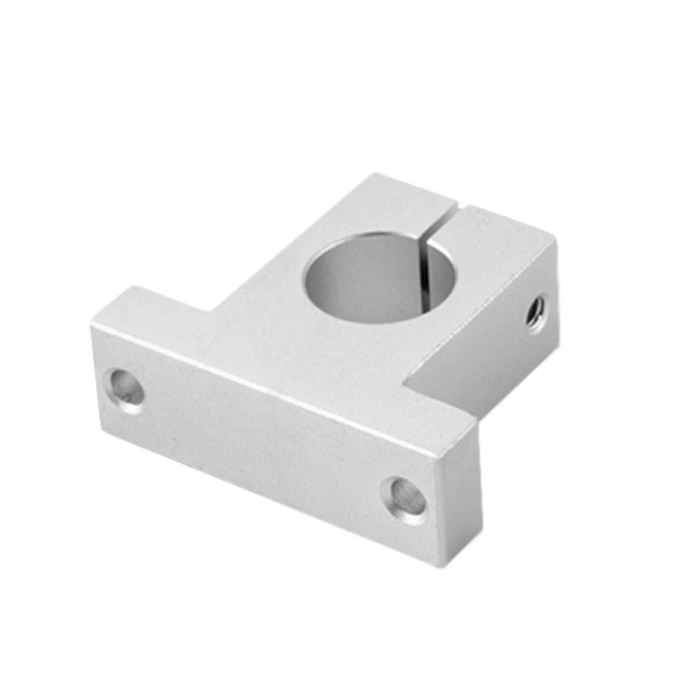 KyStudio 4 PCS SK16 Linear Rail Shaft Support for CNC Linear Slide Bearing Guide CNC 3D Printer Replacement Parts