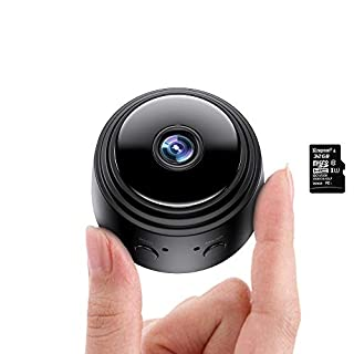 Actitop Mini Camera, Wireless WiFi 1080P HD Home Security Surveillance Cameras with Night Vision Motion Detection 32G SD Card