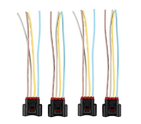 413aB32hirL._SX463_ amazon com 4 pcs xa female 4 way connector plug harness wire for  at bayanpartner.co