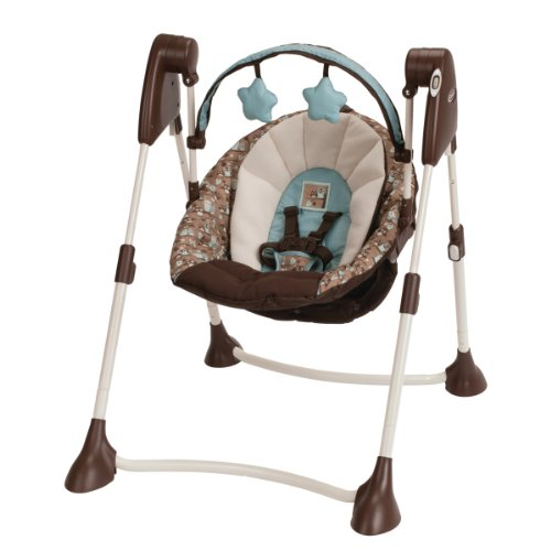 Sale!! Graco Swing By Me Portable 2-in-1 Swing, Little Hoot