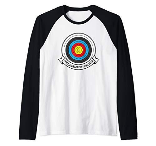 Archery Target Tournament Archer Raglan Baseball Tee (Archery Tournament Target)