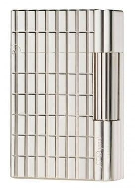 ST Dupont Gatsby Intersected LineS Silver Plate LighteR 018138 by S.T. Dupont