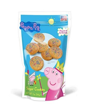 Peppa Pig Sugar Cookies 7 Ounce Resealable Bags by Stuffems Toy Shop