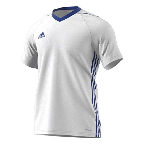 Adidas Tiro 17 Mens Soccer Jersey M White-Bold Blue
