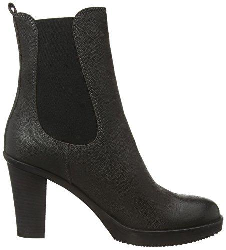 Fred de la Bretoniere Fred chelsea 13cm booty on 8cm heel rubber sole - botines chelsea de cuero mujer gris - Grau (Antracite 115)