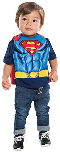 Rubie's Costume Co. Baby Dc Comics Superman Bib with Removable Cape, As Shown, One (2017 Halloween Costumes For Toddlers)