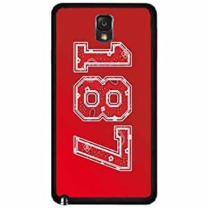 187 Red Paisley Background- Plastic Phone Case Back Cover Samsung Galaxy Note III 3 N9002