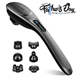 Back Massager - 6 Interchangeable Nodes, 6 Speeds & 6 Modes, Cordless Handheld Massager Portable Electric Deep Tissue Massage for Back Muscle Foot Neck Shoulder Leg Body Pain Relief Car Home Office