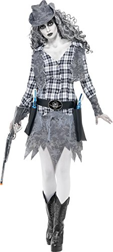 [Smiffys Women's Ghost Town Cowgirl Costume] (Ghost Baby Halloween Costume)