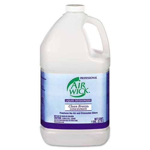 Air Wick Professional Liquid Deodorizer, Clean Breeze Scent, Concentrate, 1 gal - Includes four per case. by Air Wick