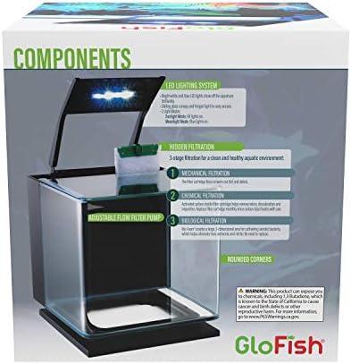 GloFish Betta Aquarium Kit Includes LED Lighting and Filter
