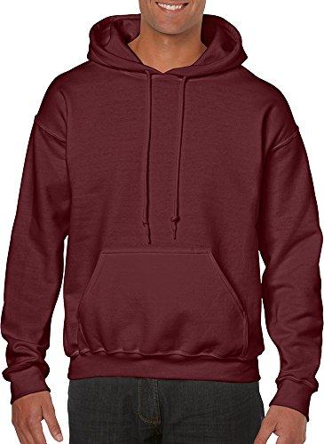 Gildan Adult Heavy Blend Hooded Sweatshirt (Maroon) (Small) - Ansi Jacket Hooded Fleece