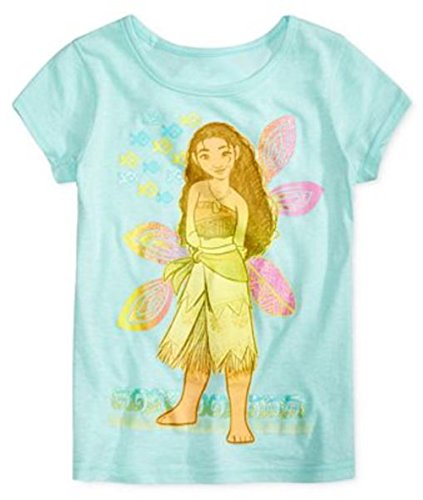 [Disney Moana Little Girl's and Toddler Short Sleeve Graphic Tee T-Shirt (3T, Cool Mint)] (Walt Disney Outfits)