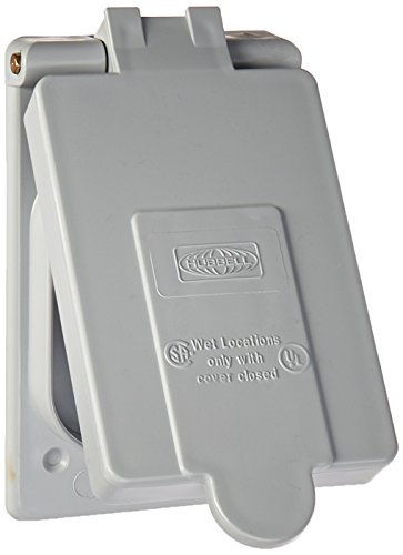 Hubbell Wiring Systems CWP26CR PVC Weatherproof Lift Cover for Ground Fault Receptacles, (Pvc Lift)