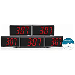 Pyramid TimeTrax Sync Ethernet Clocks in a Box Digital Bundle (SEBD5R4SR)