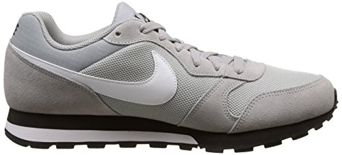 Nike Herren MD Runner 2 Low-Top Sneaker Grau (Wolf Grey / White-Black)