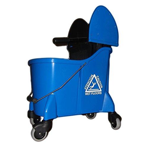 Metal Side Press Wringer (UltraSource Mop Bucket Combo with Wringer, 35 quart, Blue)