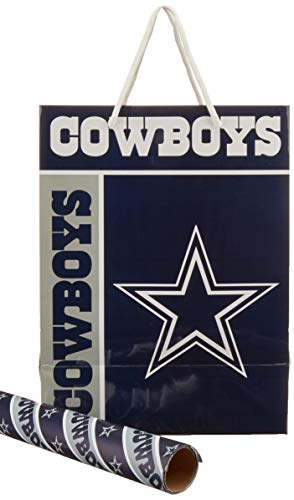 FOCO Dallas Cowboys Gift Bag/Gift Wrap 2 Pack by FOCO