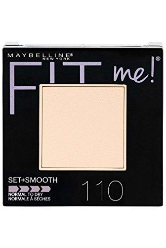 (Maybelline New York Fit Me Set + Smooth Powder Makeup, Porcelain, 0.3 oz. )