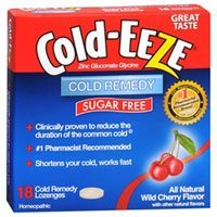 Cold-Eeze Lozenges Sugar Free, Wild Cherry Flavor 18 each by Cold-Eeze (Pack of 3)