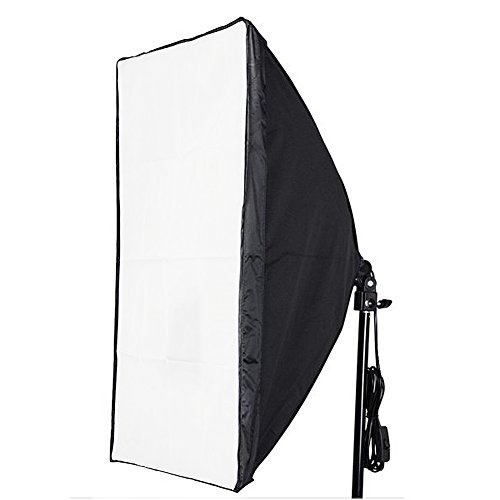 Neewer 16″x16″/40cmx40cm Photography Photo Video Studio Wired Softbox Flash Light Lighting Diffuser with E27 Socket for Fluorescent Bulb Lamp