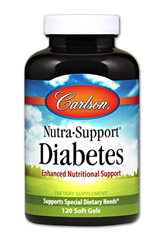 Carlson Nutra Support Diabetes  Nutritional Support  120 Soft Gels